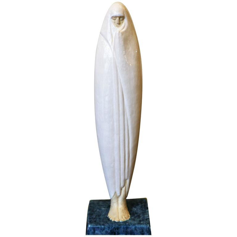 Oriental Woman from Marrakech by Céline Lepage, France, Art Deco, 1920-1925 For Sale