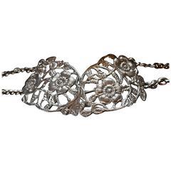 Lovely Art Nouveau Silver Belt and Buckle