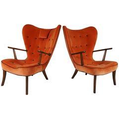 "Pair of ""Pragh"" Chairs by Madsen & Schubel"