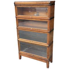 Early 20th Century Oak Barrister Case by Globe Wernicke Co.