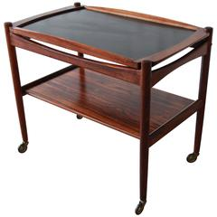 Danish Modern Rosewood Bar or Tea Cart