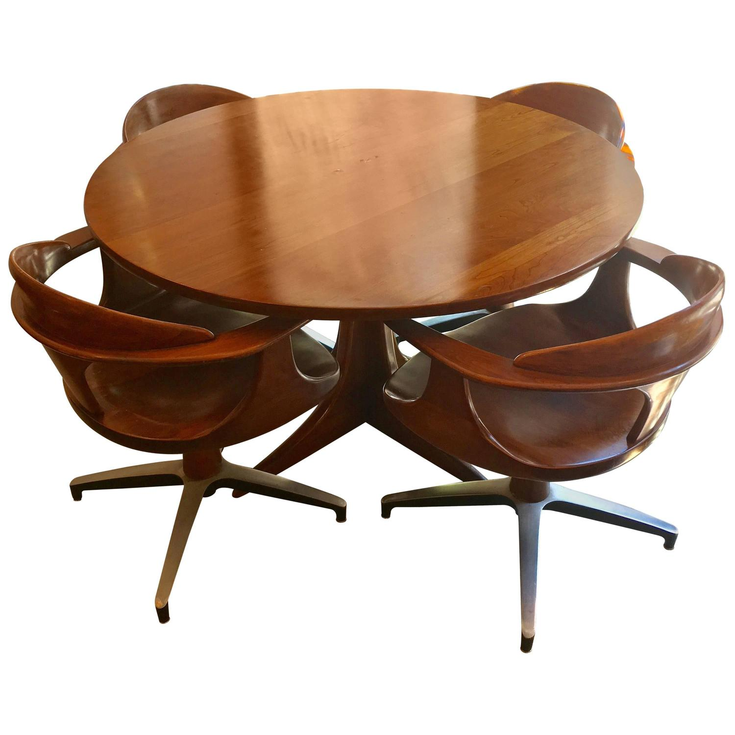 Heywood Wakefield Cliff House American 1960s Dining Set For Sale