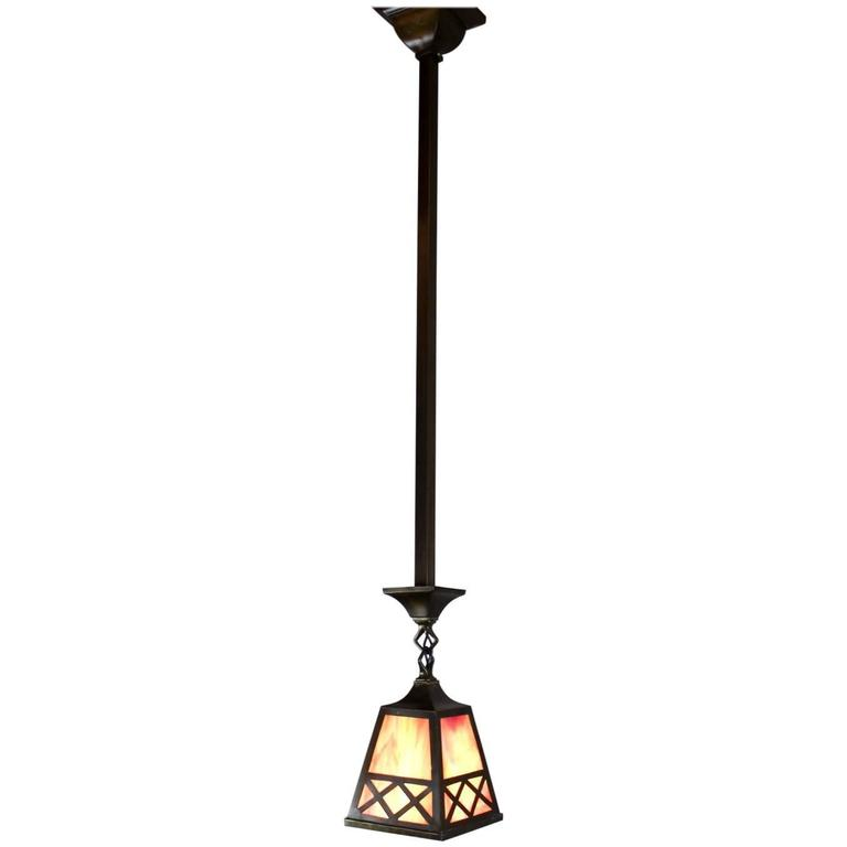 Arts And Crafts Style Pendant Fixture At 1stdibs