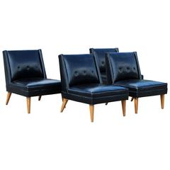 Mid-Century Modern Pair of Harvey Probber Slipper Side Chairs, 1960s