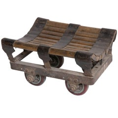 Small Iron and Wood Industrial Trolley
