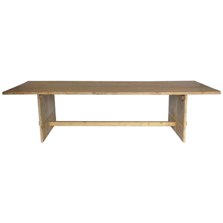 Long Elm Dining Table For Sale At 1stdibs