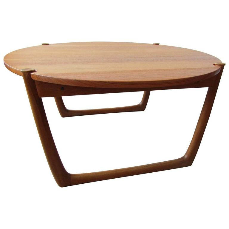 Striking hvidt and m lgaard coffee table in solid teak for france and son at 1stdibs Solid teak coffee table