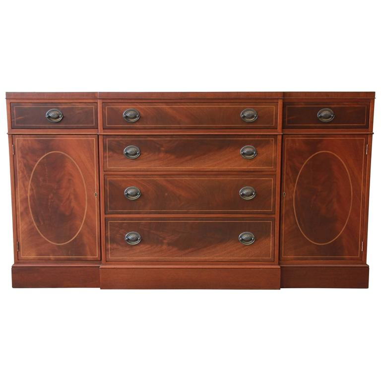 Baker Furniture Inlaid Mahogany Sideboard Buffet
