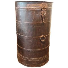 Antique Anglo Colonial Metal Storage Bin
