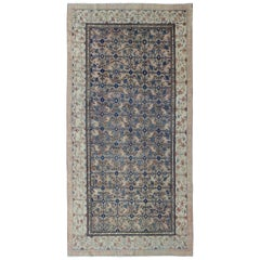 Antique Khotan Rug with All-Over Floral Blossom Design in Gray, Ivory and Blue