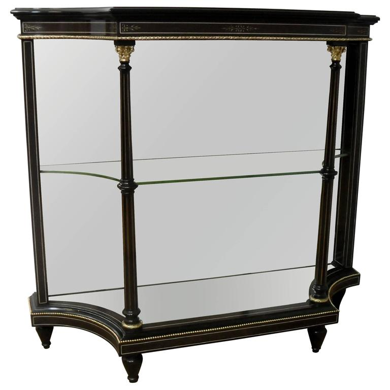 English Victorian Aesthetic Movement Open Display Cabinet For Sale