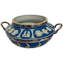 19th Century Wedgwood Jardiniere in Blue Jasperware