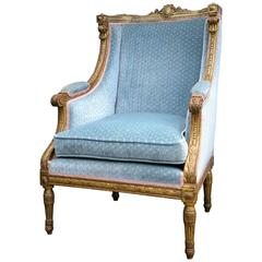 Louis XVI Style Giltwood Winged Bergere