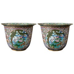 Pair of Chinese Cloisonné Planters