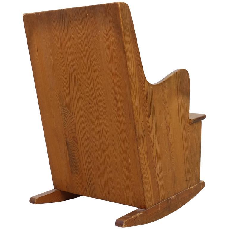 Axel-Einar Hjorth 'Lovö' Rocking Chair for Nordiska Kompaniet, 1930s