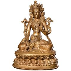Bronze Figure of White Tara