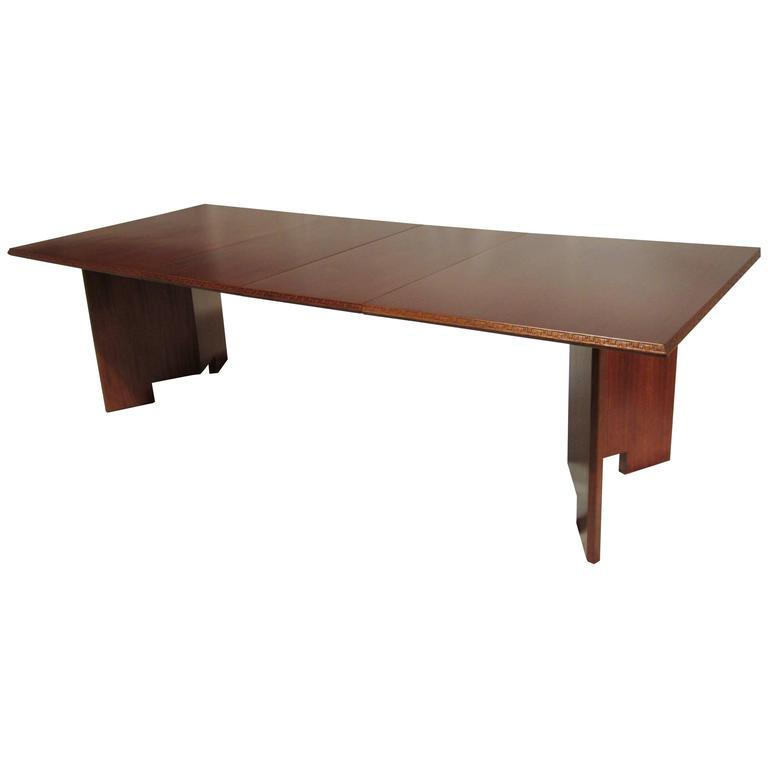 Frank Lloyd Wright Extension Mahogany Dining Table  : 7901883l from www.1stdibs.com size 768 x 768 jpeg 13kB