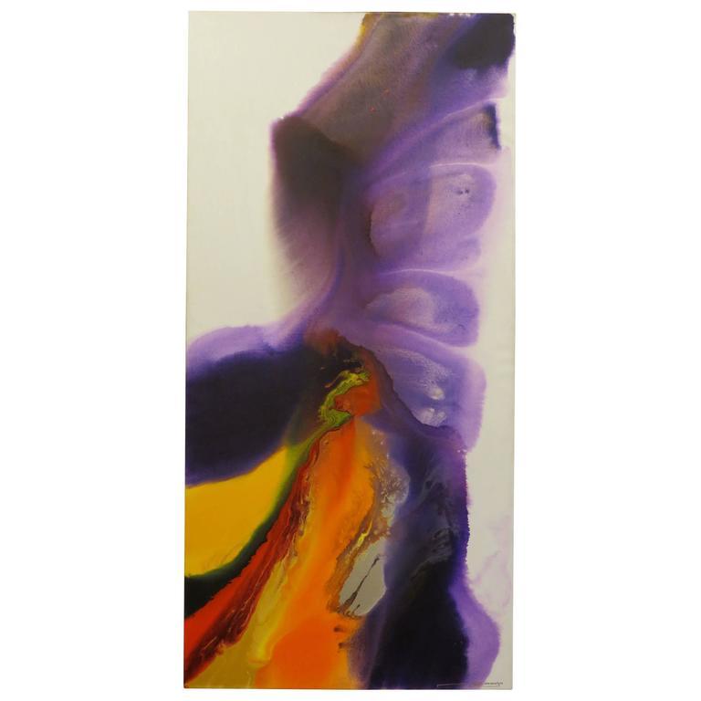 Exciting Enamelled Mixed-Media on Canvas - 2014 - Purple - Ngurah Atamja