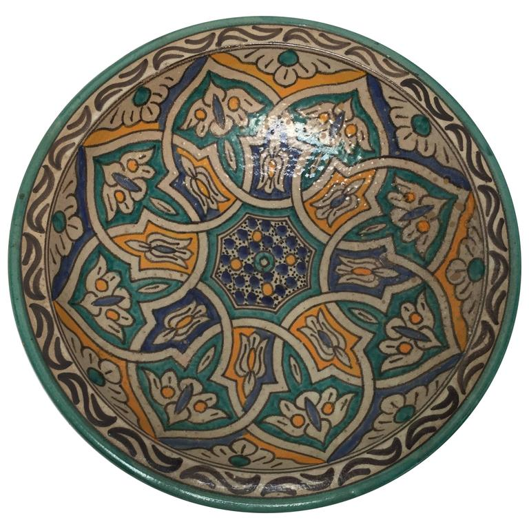 Moroccan Ceramic Bowl from Fez