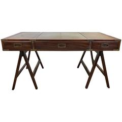 Rosewood Campaign Desk with Leather Top