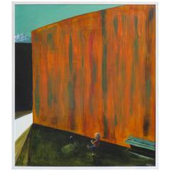 Jeff Martin - '23 Times' 2006 - Oil on Board - Orange Tones