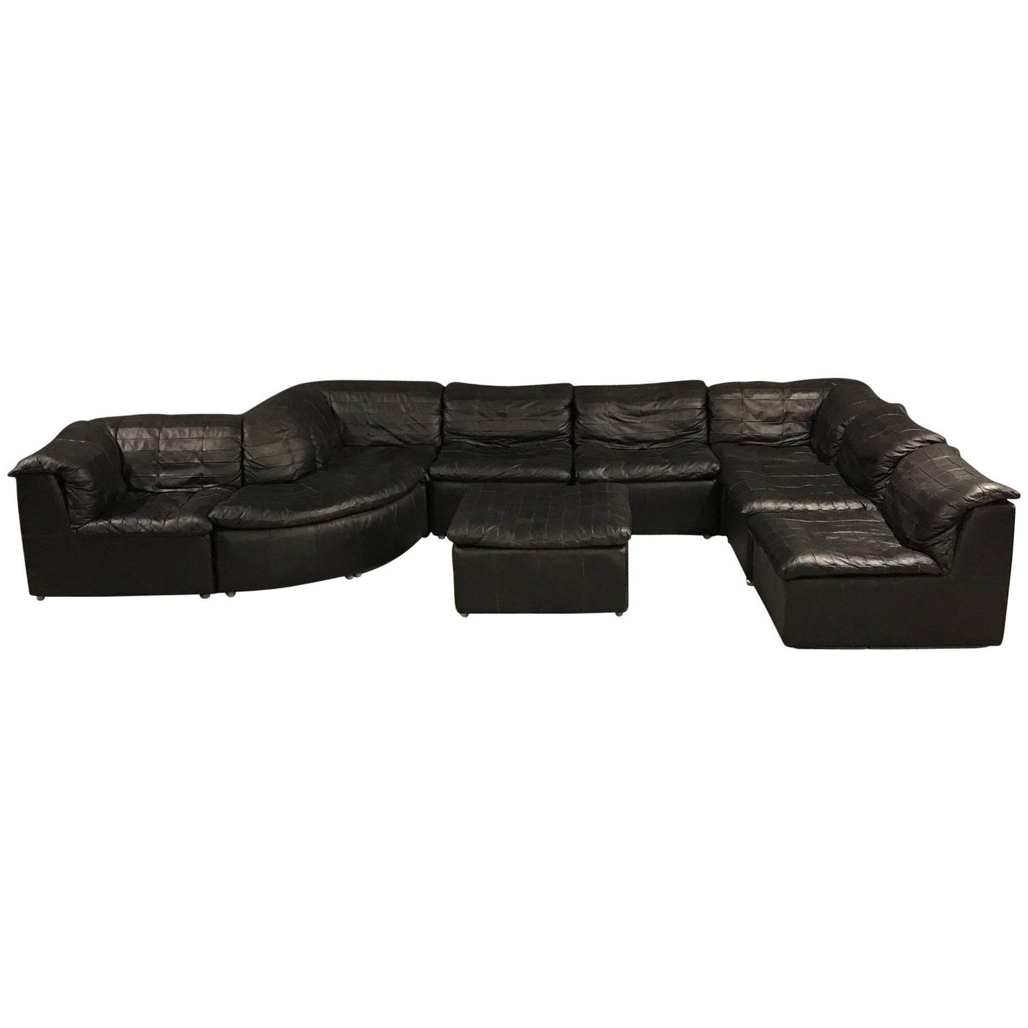 Vintage black modular patchwork sofa by laauser at 1stdibs parisarafo Image collections