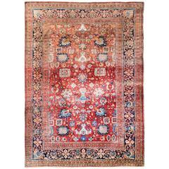 Unique Antique Keshan Silk Perfect Condition, Mid-19th Century