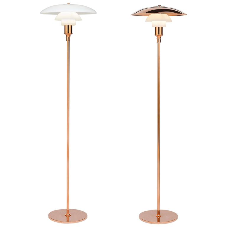 Poul Henningsen Limited Edition PH 3½-2½ Copper and Glass Floor Lamp For Sale