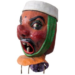 20th Century, Carnival Head from Nice, 1960s, Made of Papier Mâché