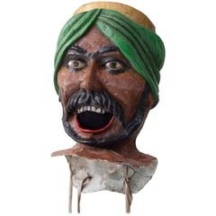 20th Century Carnival Head from Nice 1960s Made of Papier Mâché