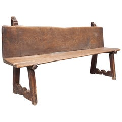 Early 19th Century French Bench Made of Walnut
