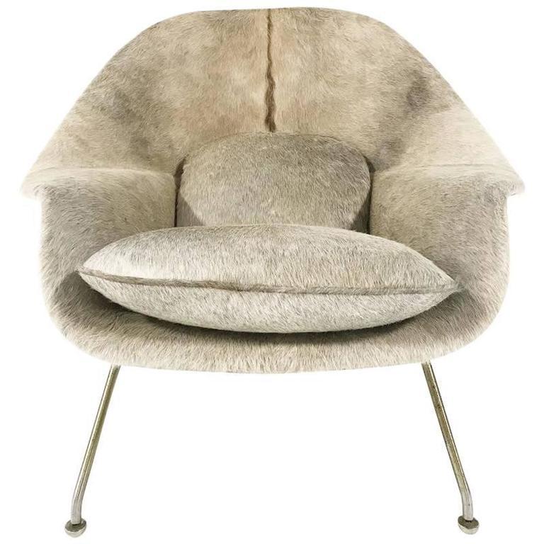Vintage Eero Saarinen Womb Chair Restored in Brazilian Cowhide ...