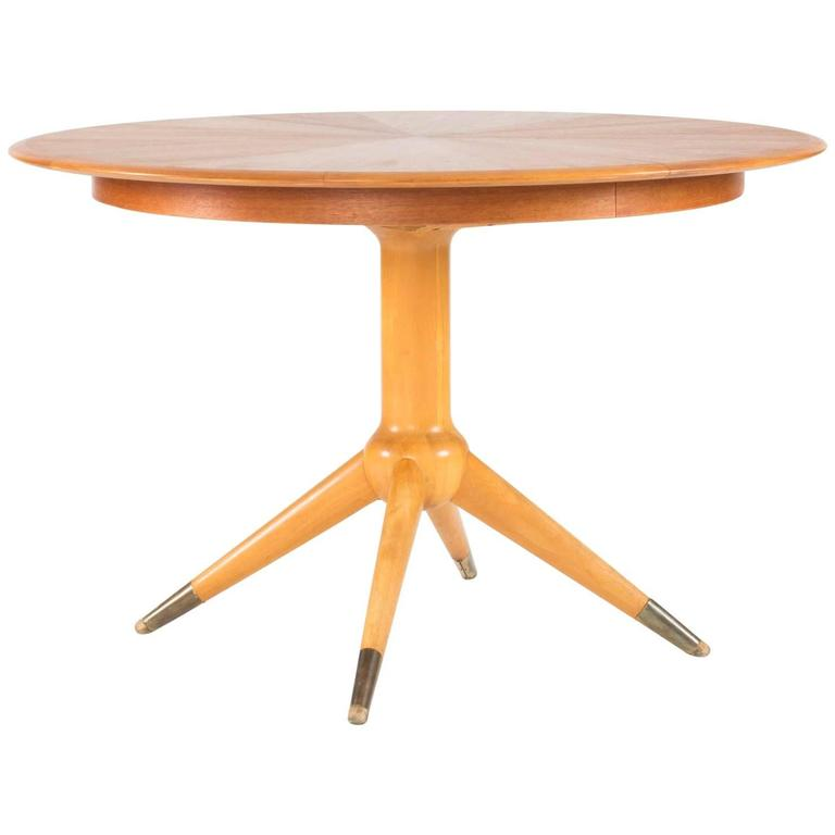 Round Teak Dining Table by David Rosén