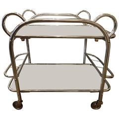 Mid-20th Century French Chrome Drinks Trolley