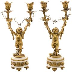 Pair of Candelabra in the Manner of Jean-Michel Clodion