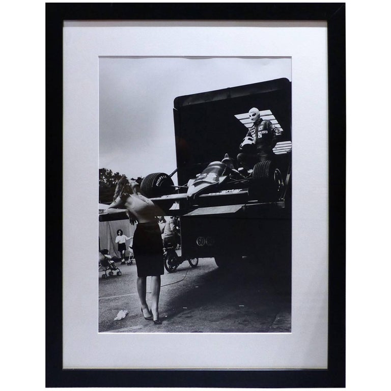 helmut newton framed poster monte carlo grand prix 1983 for sale at 1stdibs. Black Bedroom Furniture Sets. Home Design Ideas