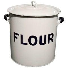 English Enamel Flour Bin