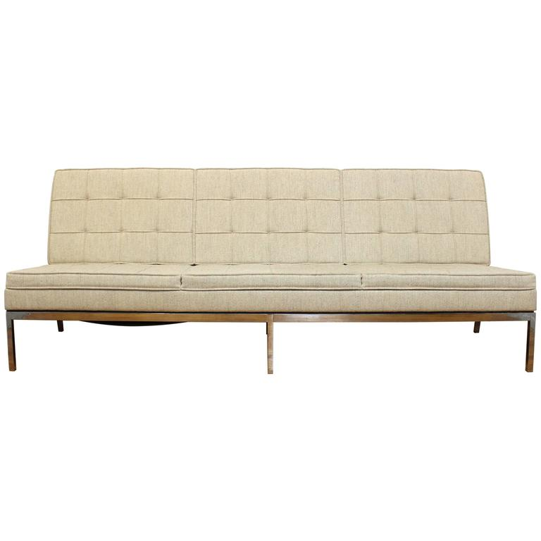 Florence Knoll for Knoll Three-Seat Angular Sofa For Sale