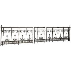 Gothic or Aesthetic Iron Railings in the Style of Thomas Jeckyll with Sunflowers