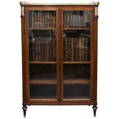 19th Century, Louis XVI Style Mahogany Bookcase