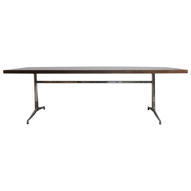 Large Wenge Conference-Dining Table, 1960s, Knoll International