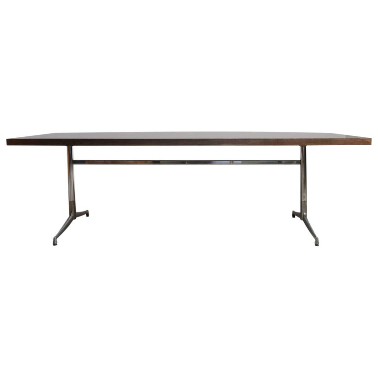 Large Wenge Conference-Dining Table, 1960s, Knoll International For Sale