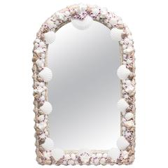 Domed Shell Encrusted Mirror