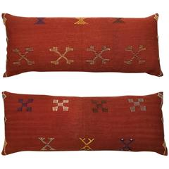 Pair of Moroccan Cactus Silk Rug Pillows