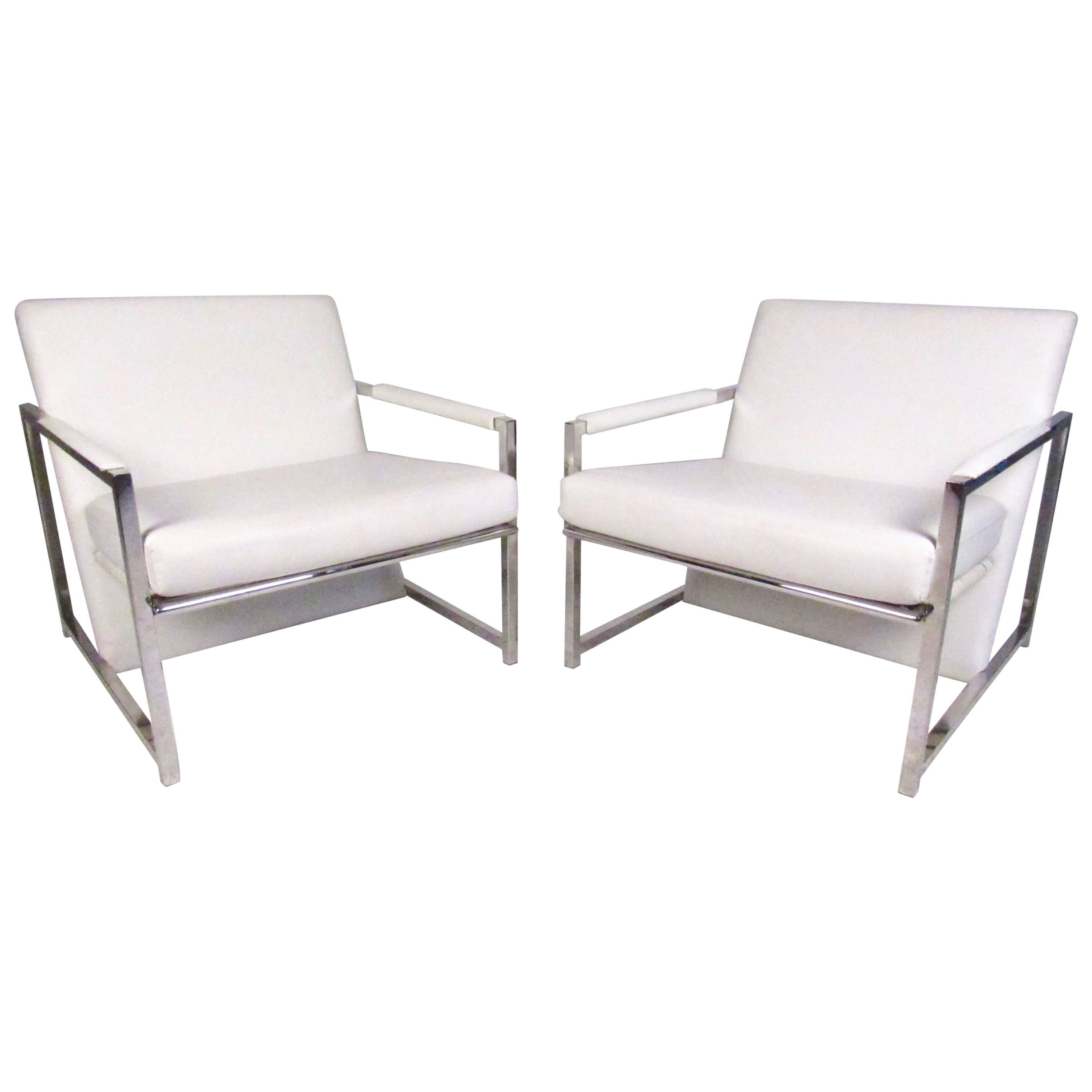 Pair of Stylish Modern Club Chairs