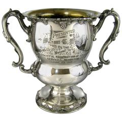 Silver Plate Trophy Wine Cooler