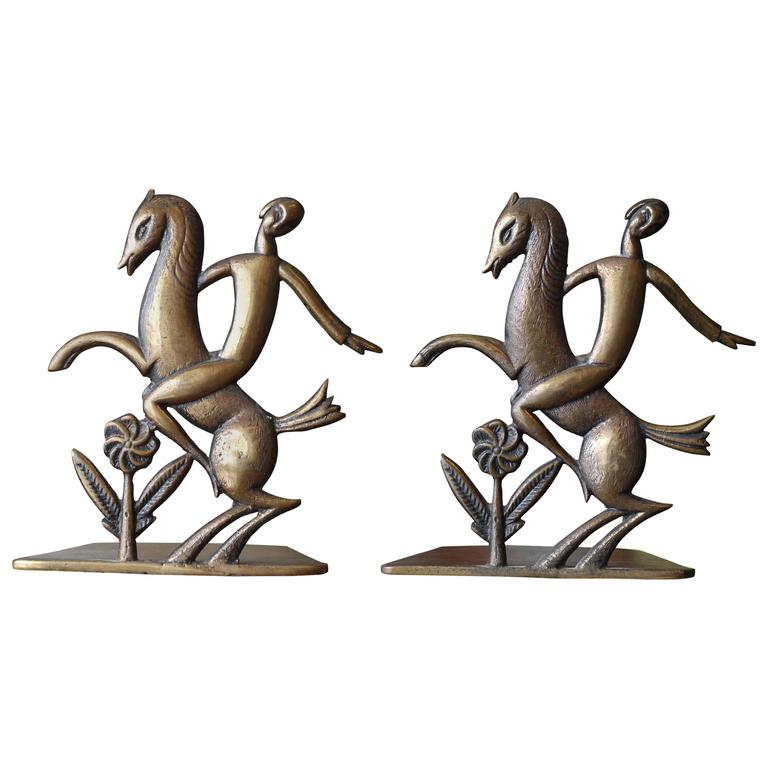 Pair of Art Deco Bronze Bookends 1