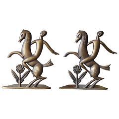 Pair of Art Deco Bronze Bookends