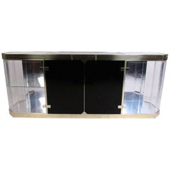 Vintage Modern Lucite and Glass Sideboard
