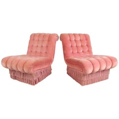 Pair of Vintage Boudoir Slipper Chairs